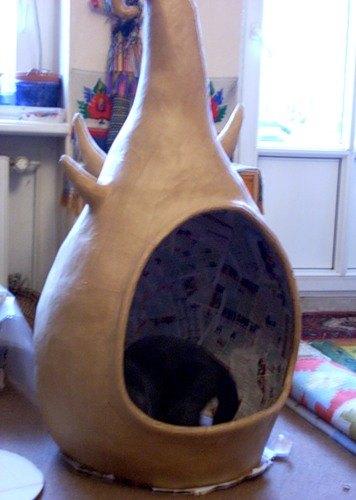 Выкройка тоннеля для кошек